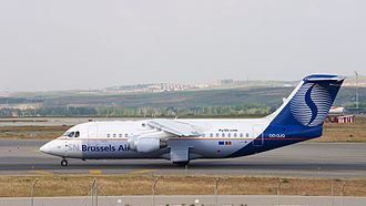 SN Brussels Airlines - SN Brussels Airlines Avro RJ at Madrid Barajas Airport.