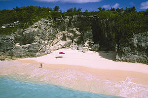 Bermuda - One of Bermuda's pink-sand beaches at Astwood Park.