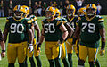 BJ Raji, A. J. Hawk and Ryan Pickett - San Francisco vs Green Bay 2012.jpg