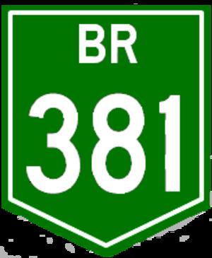 Rodovia Fernão Dias - Image: BR 381