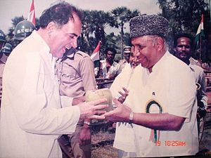 B. S. Abdur Rahman - BSA with Former Indian PM Rajiv Gandhi.