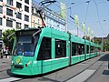 BVB Tram car 325, line 8 towards Neuweilerstrasse at Basel, Switserland p02.JPG