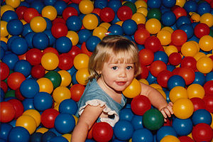Family entertainment center - Ball pits are a popular attraction at family fun centers.