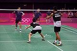 羽毛球混合双打比赛