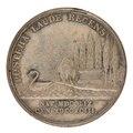 Baksida av medalj med natur samt text - Skoklosters slott - 99369.tif