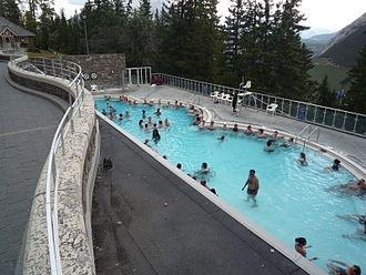 Banff Upper Hot Springs - Pool area