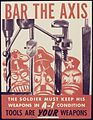 Bar the Axis. The soldier must keep his weapons in A-1 condition. Tools are your weapons. - NARA - 534997.jpg