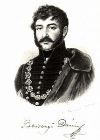 Berzsenyi Dániel portréja (Barabás Miklós metszete, korábbi német portrék nyomán)