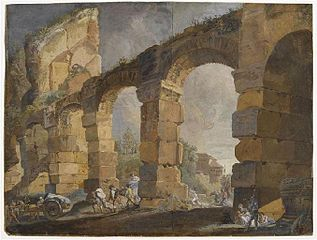 Ruins of an Aqueduct in Rome