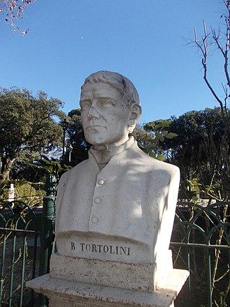 Barnaba Tortolini - Marble bust at Pincio, Rome