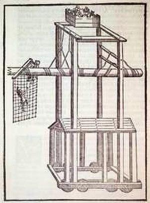 Francesco Barozzi - A siege machine from Barozzi's Heronis mechanici liber (1572).