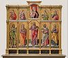 Bartolomeo Vivarini (Italian (Venetian) - Polyptych with Saint James Major, Madonna and Child, and Saints - Google Art Project.jpg