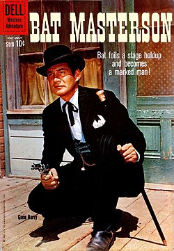 Front cover of Bat Masterson number 3 (Dell Comics, June, 1960).