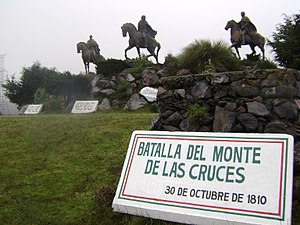 Battle of Monte de las Cruces - Monuments to the insurgents