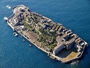 Hashima Island - Aerial view
