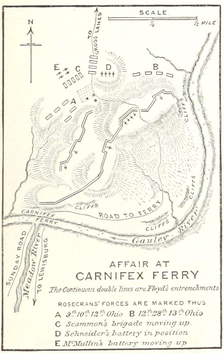 Battle of Carnifex Ferry map