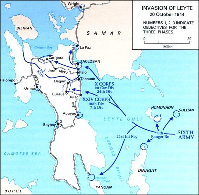 Battle of Leyte map 1