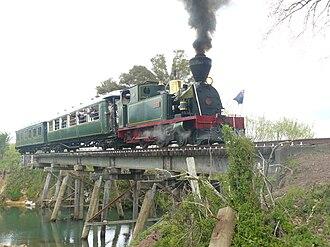 Bay of Islands Vintage Railway - Image: Bay of Islands Vintage Railway Gabriel on Number 5 Bridge