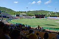 Beausejour Stadium hosting a cricket match.jpg