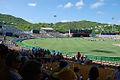 Beausejour Stadium hosting a cricket match.jpg