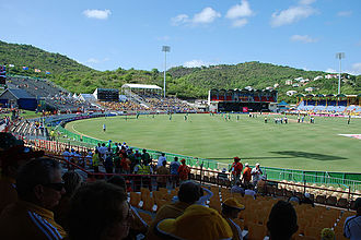 Darren Sammy Cricket Ground - The stadium from the side stands.