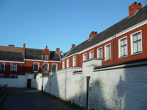 The Our Lady Ter Hoyen béguinage, one of the three béguinages in Ghent