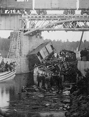 Beloeil, Quebec - On 29 June 1864, the worst train disaster in the history of Canada killed 99 on the bridge between Mont-Saint-Hilaire and Belœil-Station