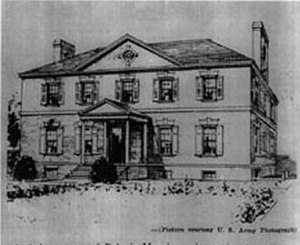 Belvoir (plantation) - Belvoir Mansion: Artist's conception of the building before its destruction.