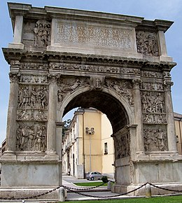 Benevento-Arch of Trajan from North.jpg