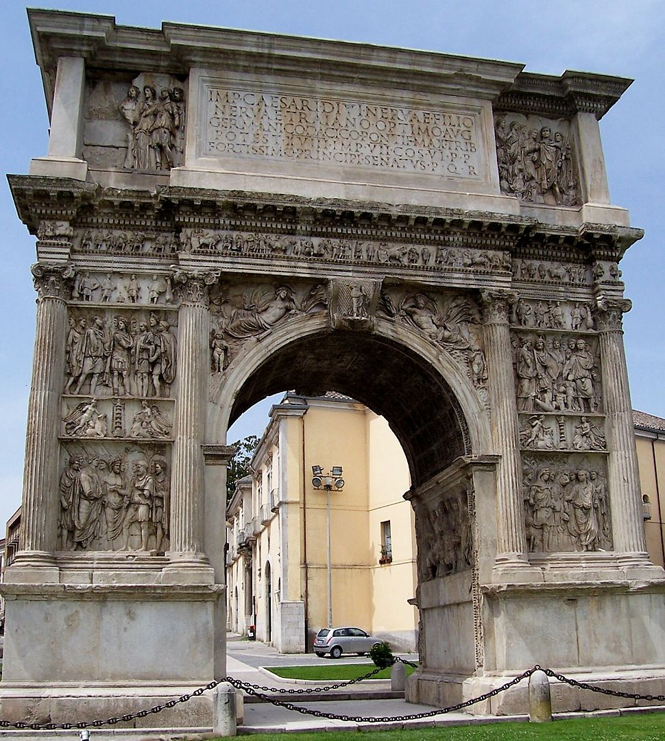 Benevento-Arch of Trajan from North