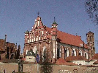 Gothic architecture in Lithuania - Monastery of St. Francis and Bernhard in Vilnius
