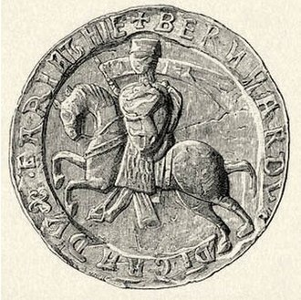 Bernhard von Spanheim - Seal of Bernhard, Duke of Carinthia