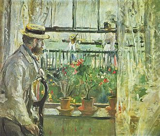 Isle of Wight - Eugene Manet on the Isle of Wight, 1875 painting by Berthe Morisot