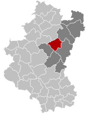Bertogne - Image: Bertogne Luxembourg Belgium Map