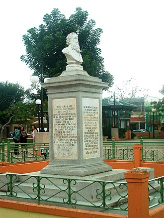 Cabo Rojo, Puerto Rico - Monument to Ramon Emeterio Betances, 2007. The monument includes inscriptions honoring him on behalf of the Dominican Republic and Cuba. His remains, returned from France in the 1920s, are buried underneath the monument.