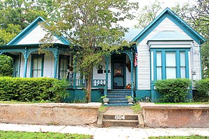 National Register of Historic Places listings in Collin County, Texas - Image: Beverly Harris House 1