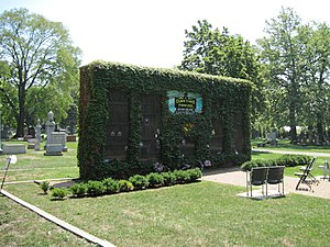 Bohemian National Cemetery (Chicago, Illinois) - Chicago Cubs columbarium
