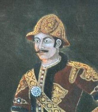 Bhimsen Thapa - Portrait of Bhimsen Thapa in military uniform.