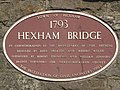 Bicentennial plaque (1993) on Hexham Bridge - geograph.org.uk - 818731.jpg