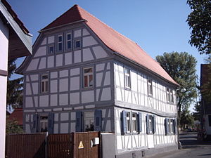 Offenbach-Bieber - Historical half-timbered building