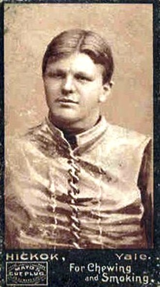 1894 College Football All-America Team - Bill Hickock of Yale.