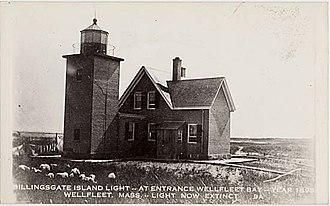 Billingsgate Island - The Billingsgate Island lighthouse, 1895