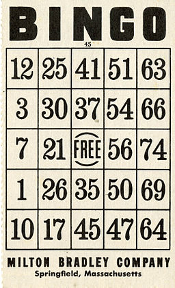 Bingo card - B&W