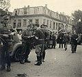 Binnenlandse Strijdkrachten en Duitse militairen Biltstraat Utrecht 7 mei 1945 HUA-600866.jpg