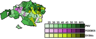 Biscay (Congress of Deputies constituency) - Image: Biscay Municipal Map Congress 2015