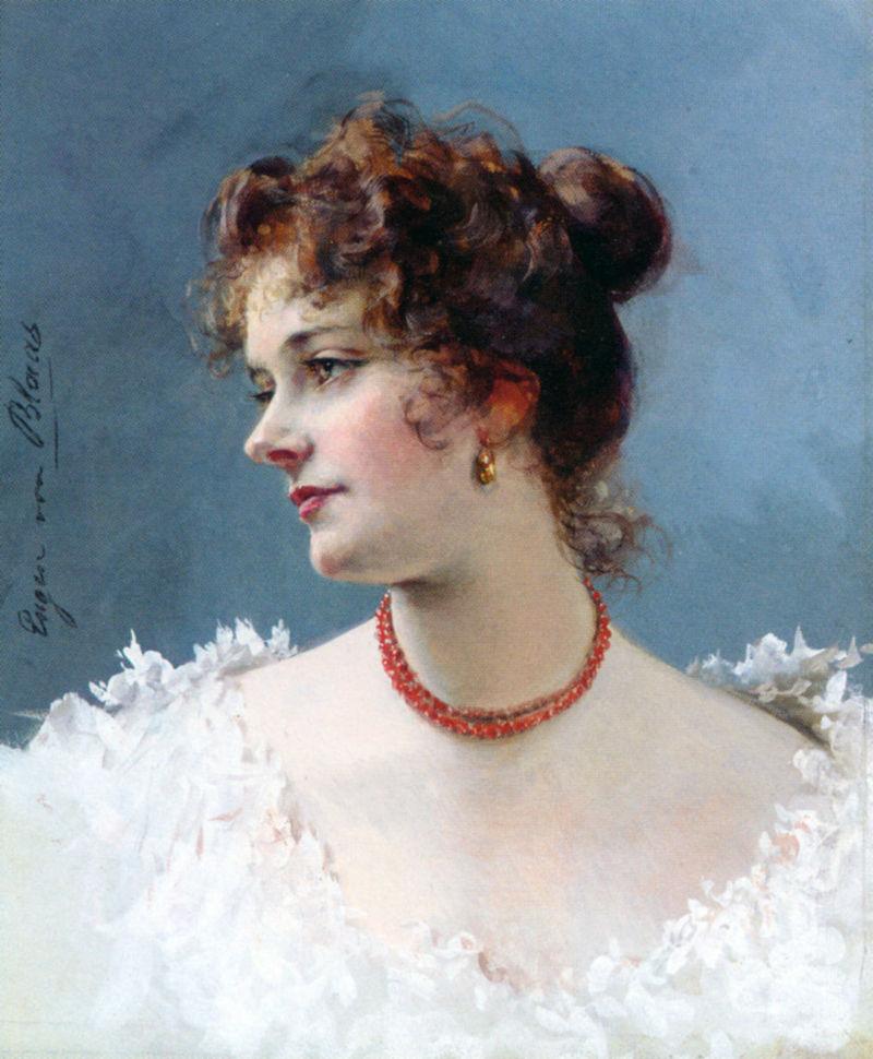 Blaas Eugene de Portrait of a Lady Pencil Watercolor Gouache.jpg