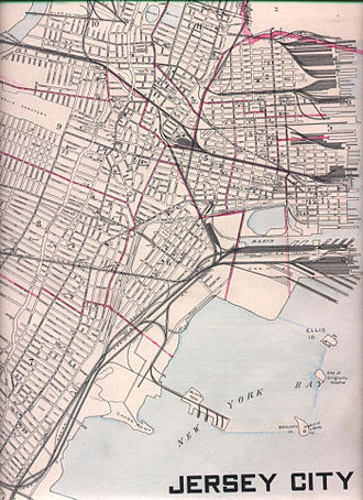 "Ellis Island Immigrant Hospital - Early 20th-century map showing the ""Site of Emigrant Hospital"""