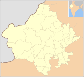Map showing the location of Tal Chhapar Sanctuary