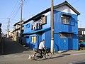 Blue corrugated galvanised iron's house 青いトタン張りの家(千葉県いすみ市大原).jpg