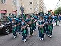 Blue samba dancers from Império do Papagaio at Kallio Kukkii 2019.jpg